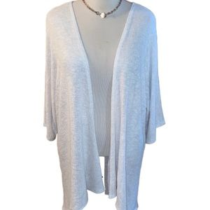 LuLaRoe Ivory Shimmer Lindsay Kimono Coverup